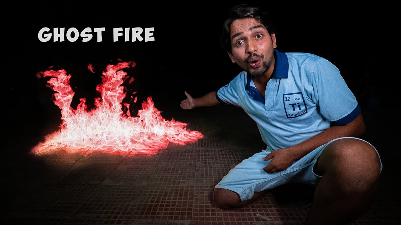 We Create Red Ghost Fire - 100% Real