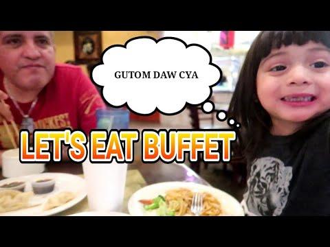 Little Filipina  Lunch At Chinese Buffet.