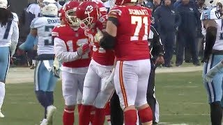 Travis Kelce Takes a Big Hit and Gets Dizzy   Titans vs. Chiefs   NFL