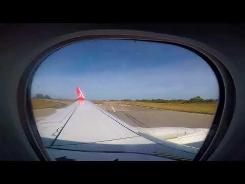 B 737-900 ER Sierra Leone, Freetown, Lungi International Airport Landing by GoPro ( TK )