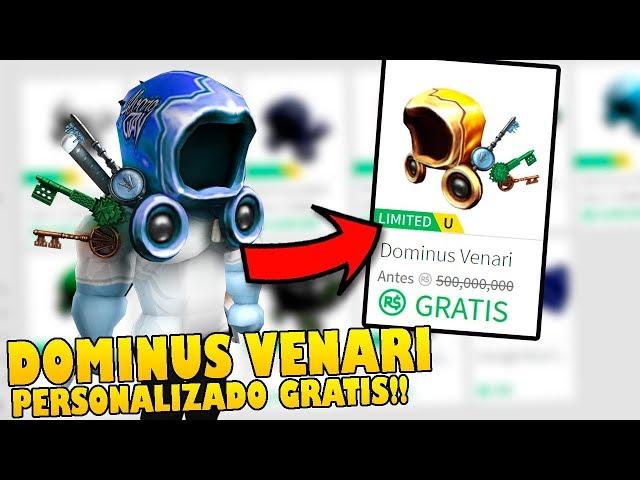 COMO TENER el DOMINUS VENARI PERSONALIZADO 100% GRATIS en ROBLOX !!