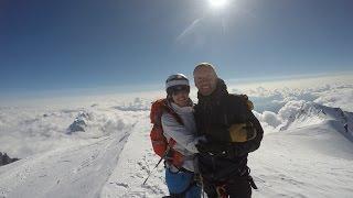 Kristyn and Robin Climb Mont Blanc 2015