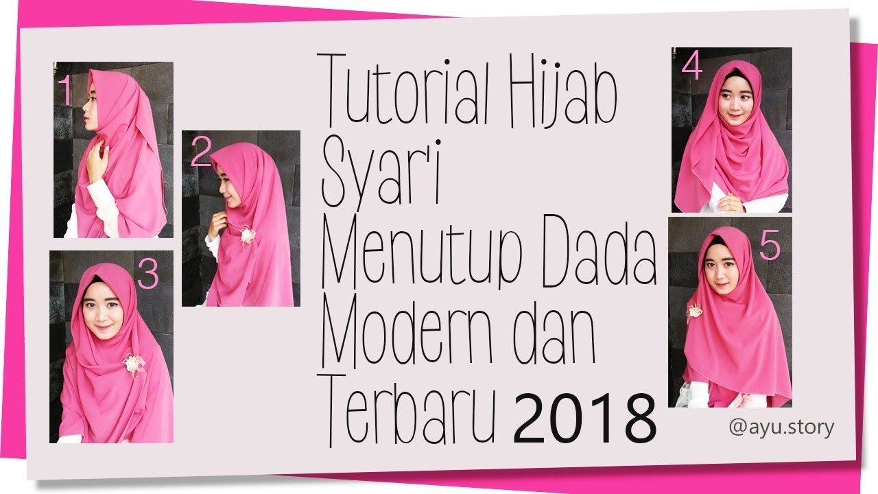9 Tutorial Hijab Syar'i Menutup Dada Modern dan Terbaru 9