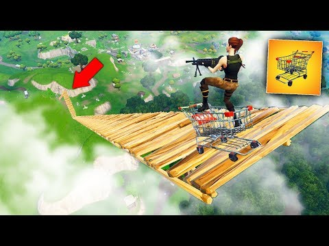 SHOPPING CART JUMP From *MAX HEIGHT* - Fortnite Battle Royale