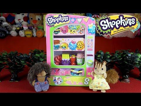 Торговый автомат Шопкинс обзор  мультик из игрушек. Shopkins Vending Machine