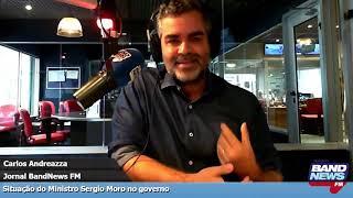 Carlos Andreazza: Neste momento, Sergio Moro depende de Jair Bolsonaro para ter existência política