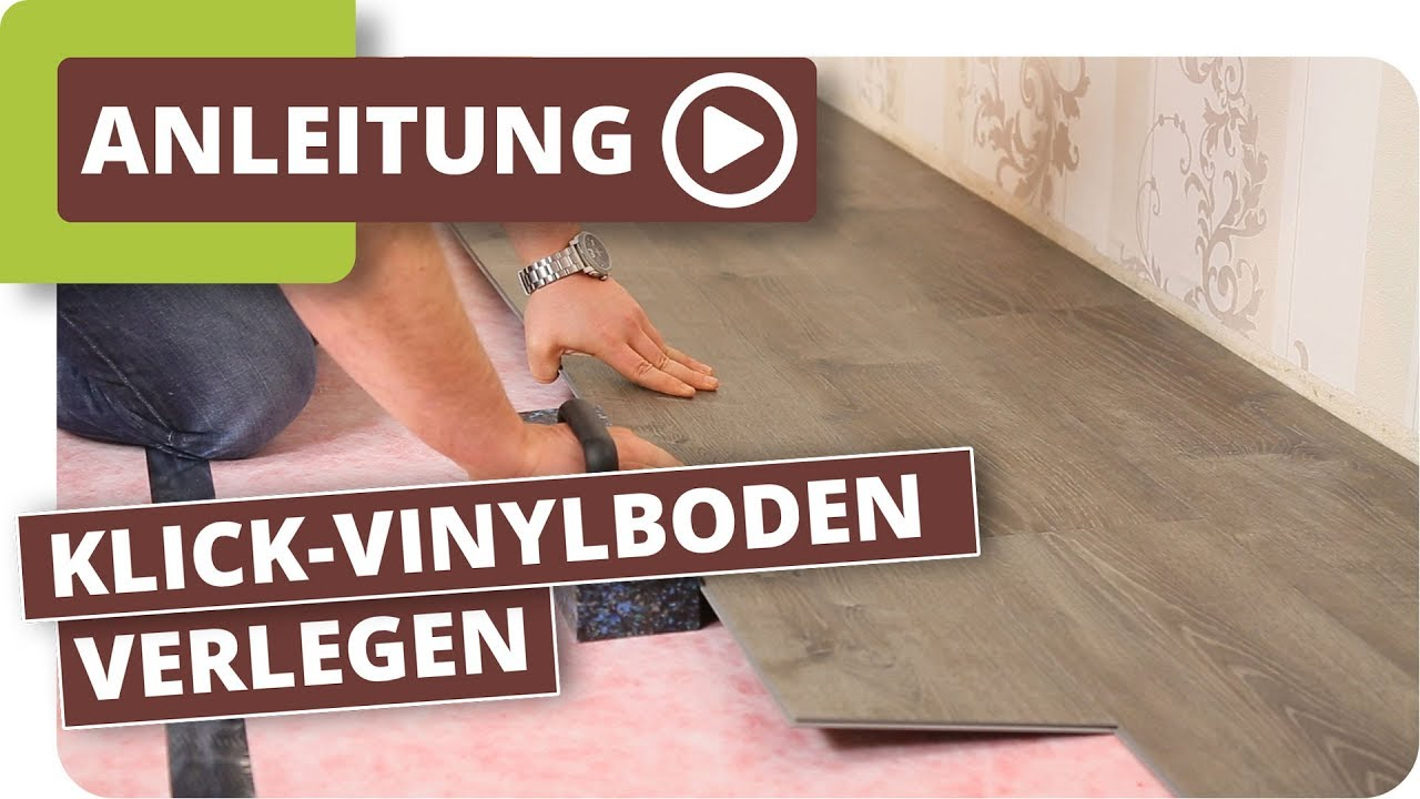 klick vinylboden verlegen anleitung youtube. Black Bedroom Furniture Sets. Home Design Ideas