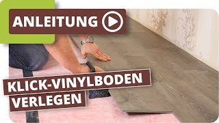 Klick-vinylboden Verlegen - Anleitung - Planeo Vinylboden Klicken Designboden Verlegen