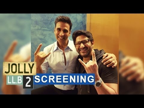 Akshay Kumar, Huma Qureshi, Arshad Warsi And Others At 'Jolly LL B 2' Screening