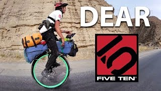 Dear Five Ten - From the guy that unicycled around the world