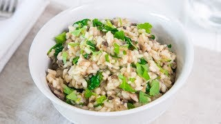 Perfect Mushroom Risotto Recipe - Tasty Dishes by Warren Nash