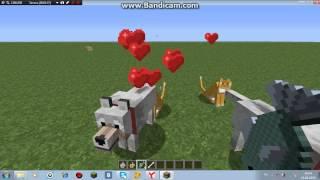Как сделать кошку и собаку в майнкрафт