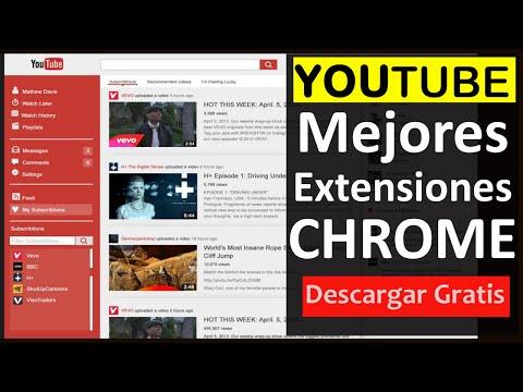 10 Mejores extensiones de Google Chrome para YOUTUBE 2015