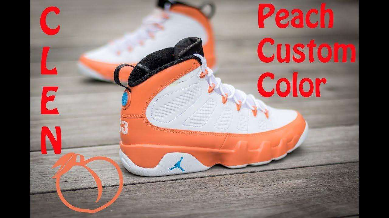 Angelus Peach Customs Shoes Jordan 9's