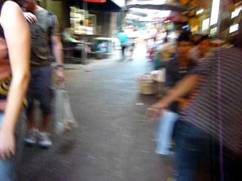 little India, Bangkok, street market, Thailand, Pahurat district, Sikh Temple.MOV