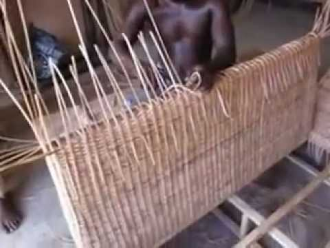 Making cane and bamboo furniture lome togo west africa for Making bamboo things