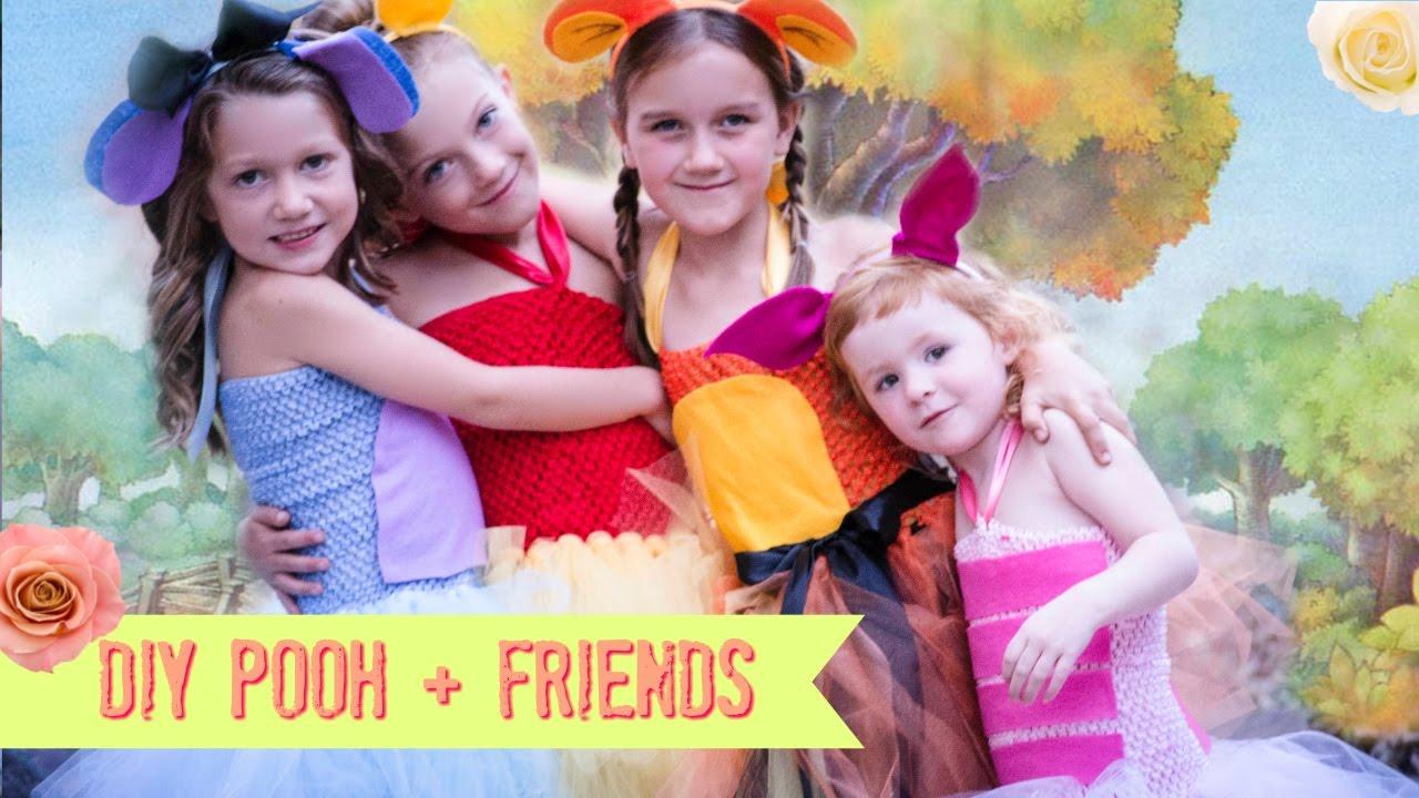 759f546ca176 DIY Pooh - Piglet - Eeyore - Tigger Costume NO SEW Tutu - WINNIE THE ...