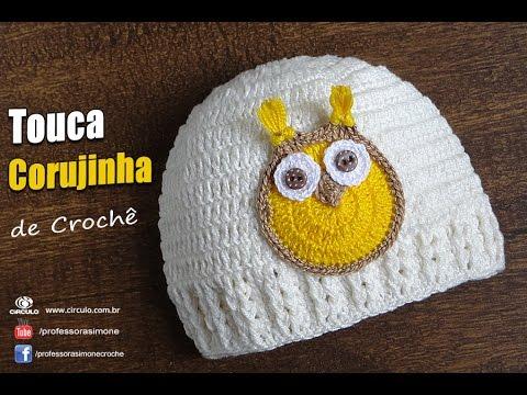 Touca Croch Menino Charme Professora Simone baby hat 4beb335ad6e