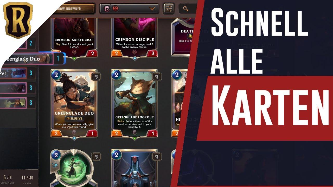 🔴 Schnell an alle Karten kommen 🔴 Legends of Runterra Gameplay deutsch