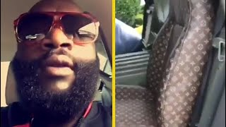 Rick Ross Puts Louis Vuitton Seats In His Military Humvee!