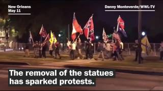 New Orleans reacts to the removal of Confederate statues