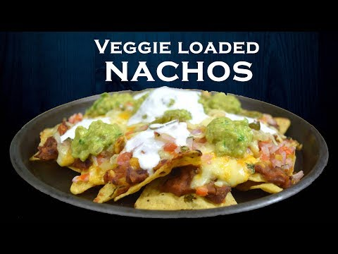 Veggie Loaded Nachos   Cheesy Nachos   Refried Beans From Scratch   Simply Yummylicious