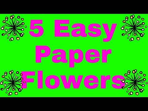 5 TYPES AWESOME PAPER FLOWERS MAKING IDEA AT HOME | PAPER FLOWERS | DIY CRAFTS