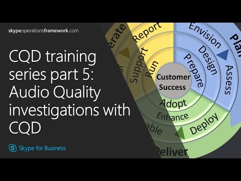 CQD training Series part 5: Audio Quality investigations with CQD