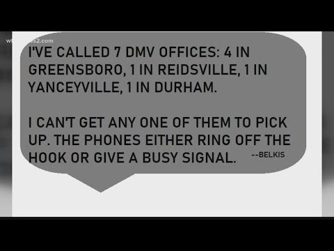 NC DMV: Don't Call Your Local Office To Make An Appointment
