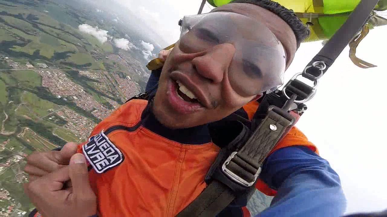 Salto de Paraquedas do Vanderlei O na Queda Livre Paraquedismo 22 01 2017