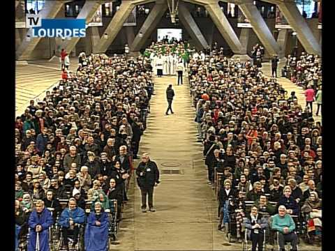Lourdes Messe Internationale du dimanche 18 oct. 2015-International Mass (France)