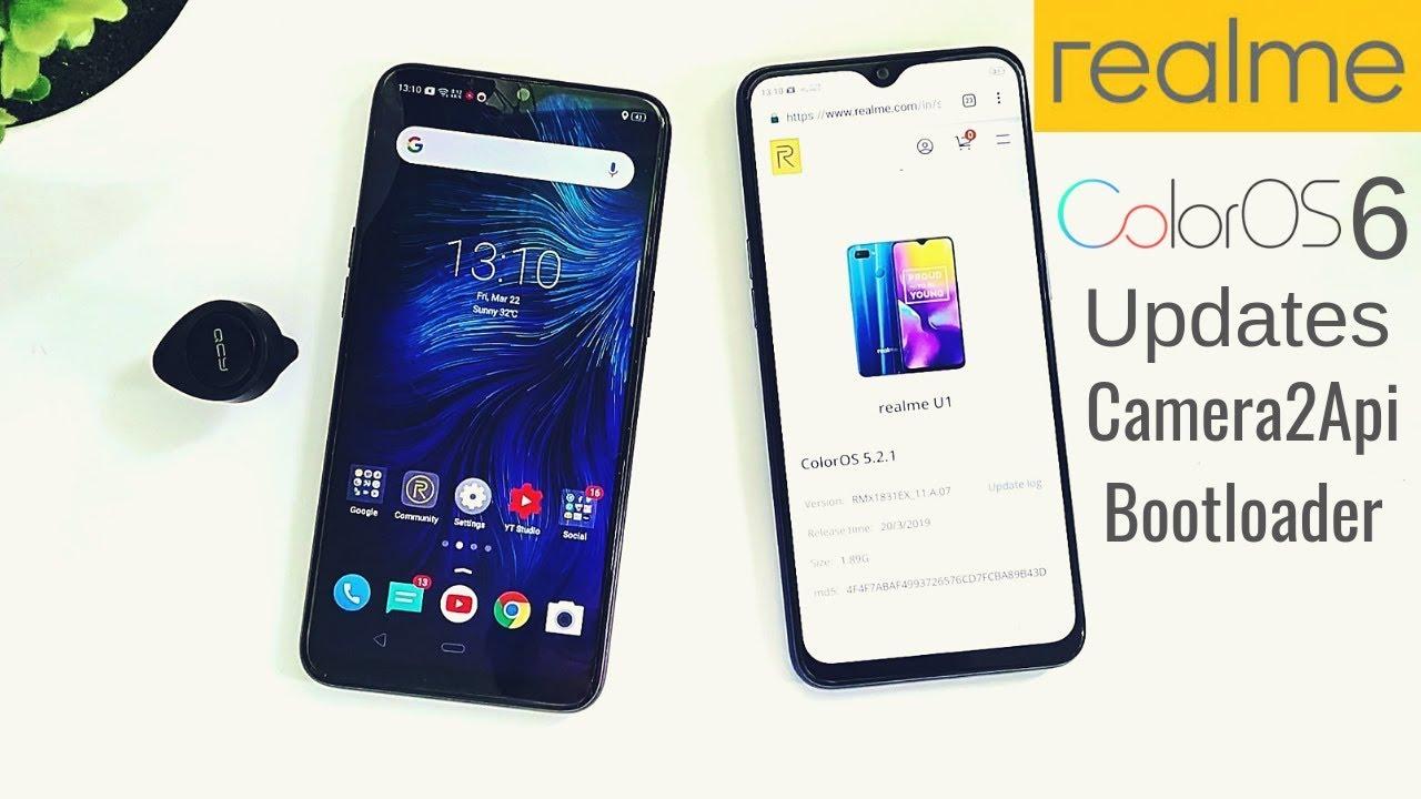 ColorOS 6, Realme U1 Update, Realme 1, 2, 2PRO, U1 Camera2Api? All Realme  Bootloader Unlock?