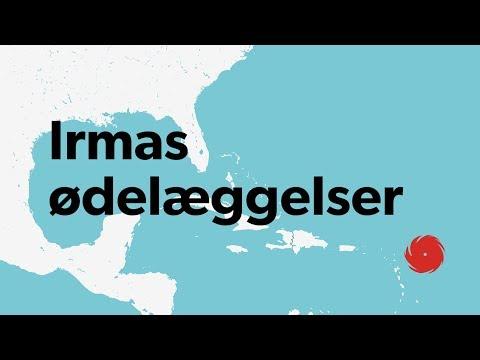 Irma trak et spor af ødelæggelser fra Caribien til Florida