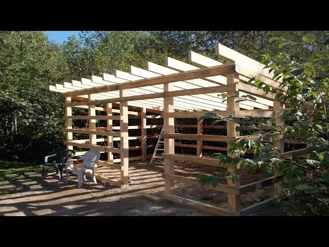 Update On My Wood Shed Build From My Home Made Lumber