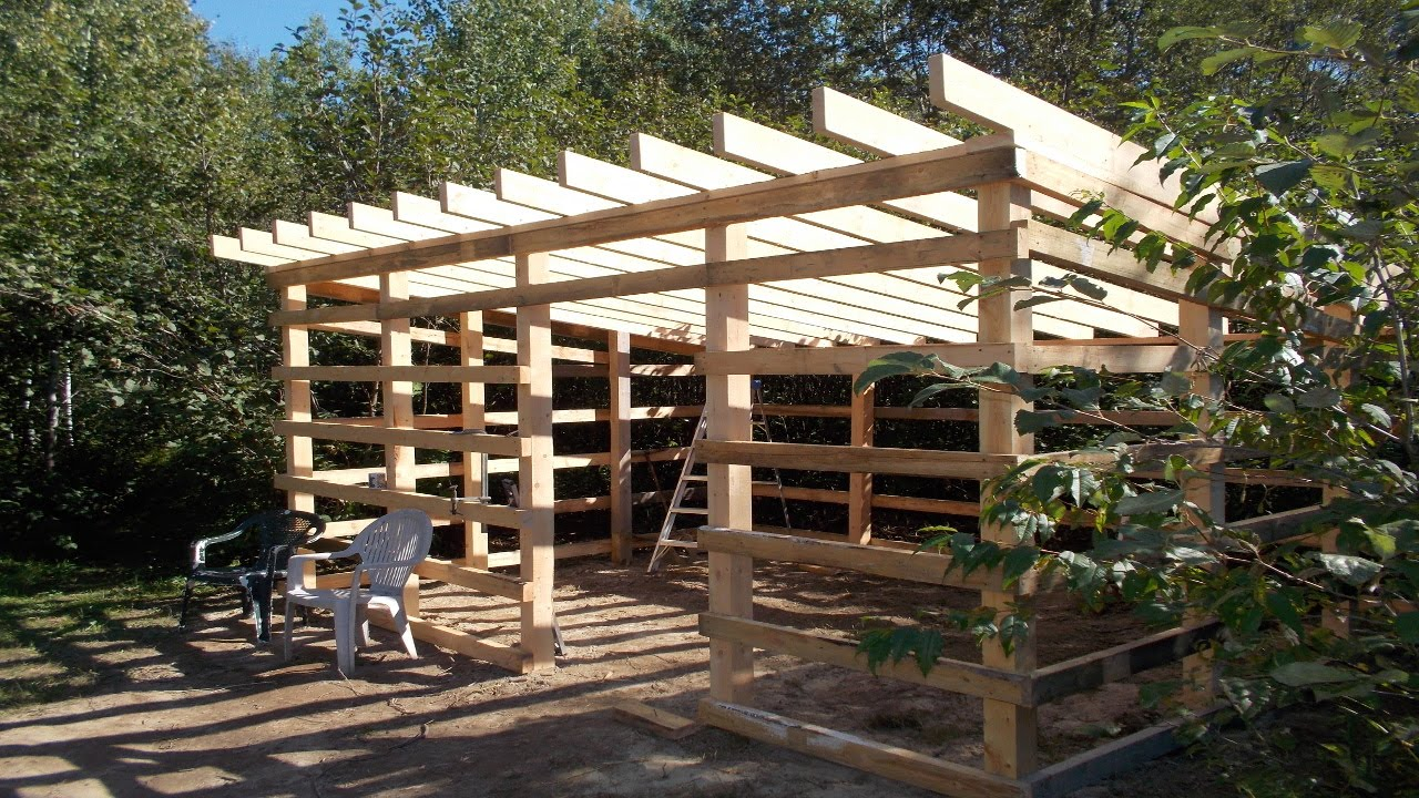 Update On My Wood Shed Build From My Home Made Lumber ...