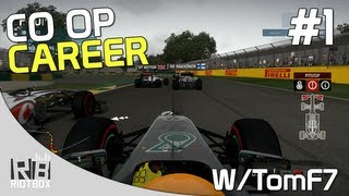 F1 2013 CO OP Career Mode Walkthrough PC Mercedes - Part 1 - Australia (with TomF7)