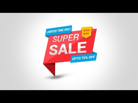 how to make banner in photoshop cs6 | Sale Banner