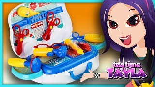 Pretend Play Kids Toys | Doctor Set for Children on Tea Time with Tayla