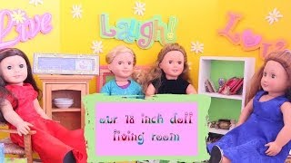 Ag Doll House Tour: Living Room With Thrift Store Finds
