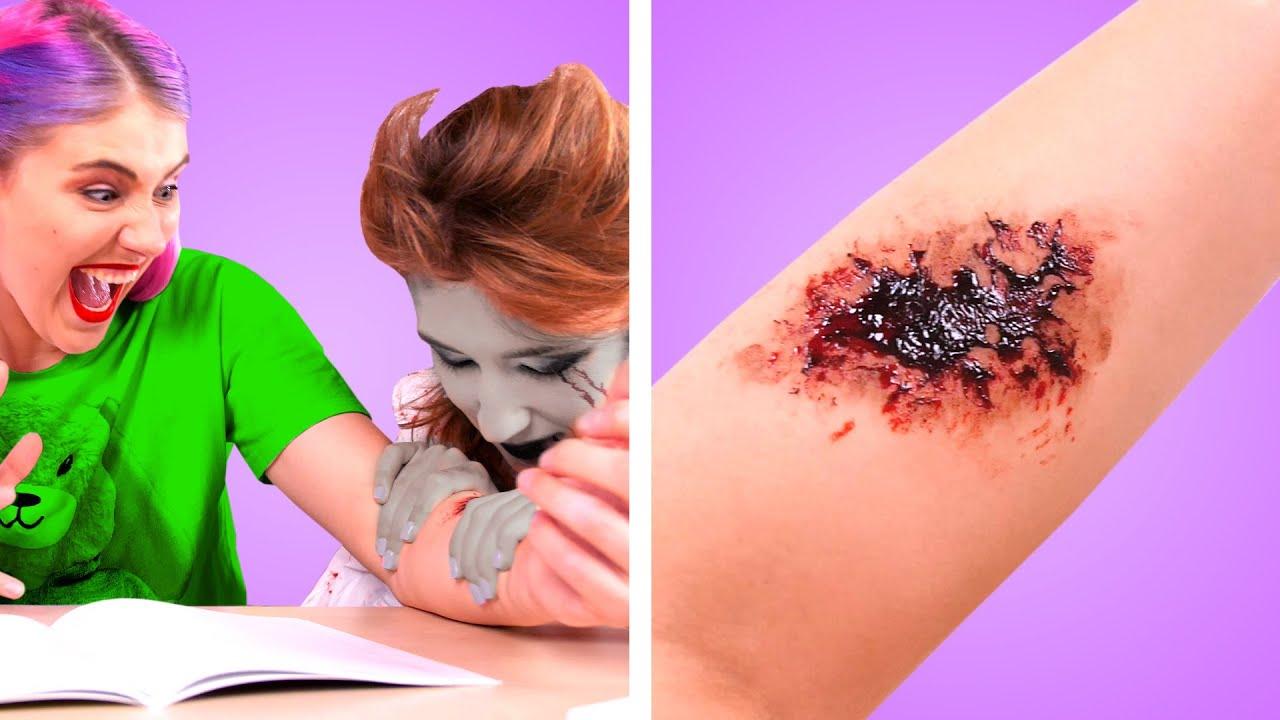 Download ZOMBIE AT SCHOOL! Funny School Pranks & DIY Zombie School Supplies by Crafty Panda