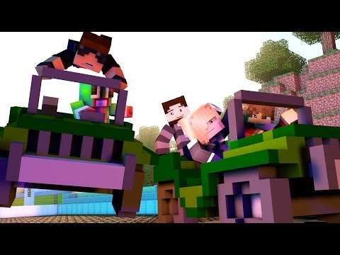 Minecraft Battlefield - JEEP RACES!