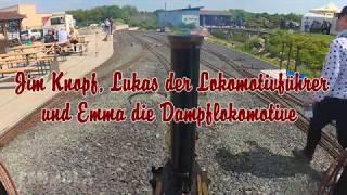 Jim Knopf und Lukas der Lokomotivführer sowie Emma die Dampflokomotive