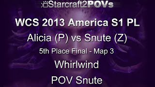 SC2 HotS - WCS 2013 AM S1 PL - Alicia vs Snute - 5th Place Finals - Map 3 - Whirlwind - Snute