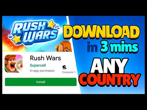 DOWNLOAD RUSH WARS On ANDROID In 3mins From ANY Country!