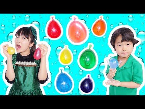 ★食べれる!「7色のレインボー水風船」★Can eat Water balloon★