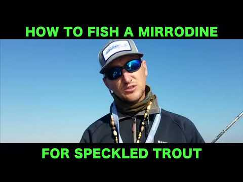 How To Fish A MirrOlure Mirrodine For Speckled Trout