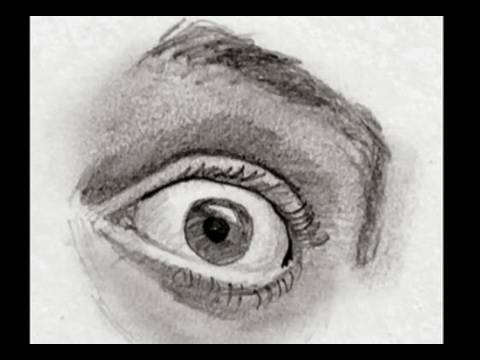MASTER Drawing The Eye In 2 Minutes (Fear And Surprise) - YouTube
