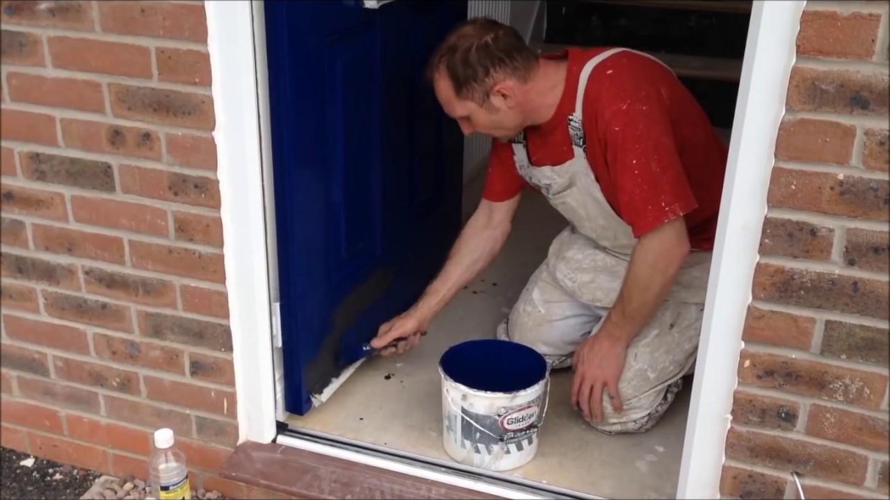 How To Paint A Plastic Front Door   YouTube