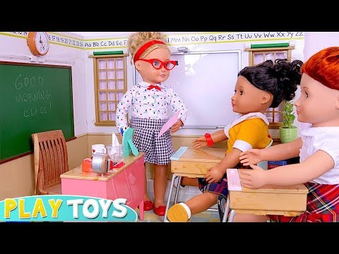 Play Our Generation Dolls School Classroom Toy Set! 🎀