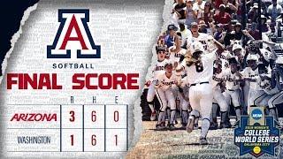 Zapętlaj WCWS Highlights - Game 1 Washington   Arizona Softball